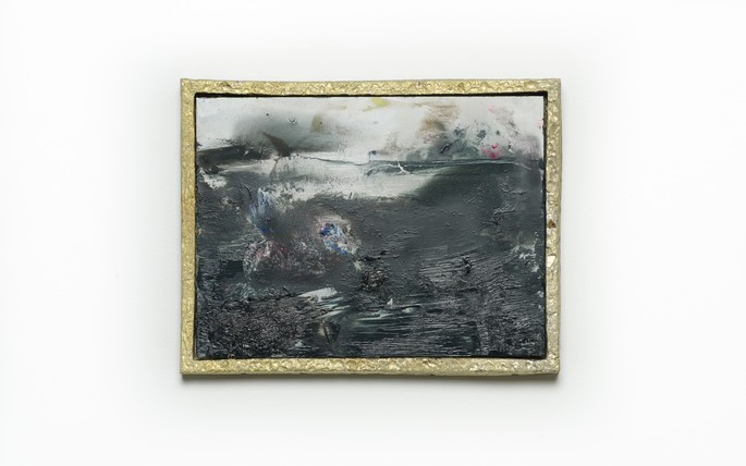 Tyne Gordon, the only other lizard i know, oil on aluminium, pewter frame, 2019, 155 x 205mm. Image credit: Mitchell Bright
