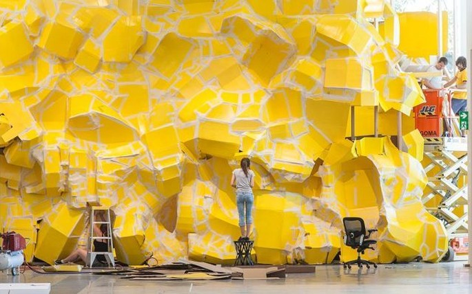 Richard Maloy, Big Yellow, 2013, (installation view)