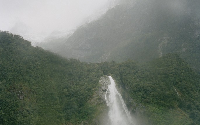 Gavin Hipkins, The Homely: Milford Sound (Falls), 2004. Colour photograph. Courtesy of the artist.